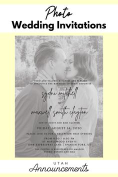 Flaunt your best engagement photo with this photo wedding invitation. This design is an overlay of your wedding details on your favorite engagement photo. This will definitely capture the hearts of your guests. Wedding Invitation Trends, Photo Wedding Invitations, Invites, Wedding Announcements, Beautiful Smile, Future Husband, Overlay, Wedding Details, Engagement Photos