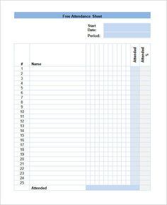 Attendance Spreadsheet Template Inspiration Testing Attendance With And Without Incentives  Usability Testing .