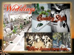 Country Style Weddings Riverside Resort, Country Style Wedding, Presentation, Table Decorations, Weddings, Home Decor, Homemade Home Decor, Bodas, Wedding