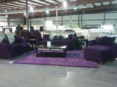 Wow-Where is this furniture store-with the Purple LR set & rug?