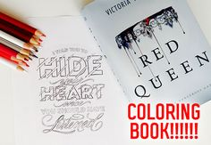 Holy OMG a Red Queen coloring book is officially happening!!!!!! We are counting down the days till we can hold it in our arms. Out December 20th 2016!
