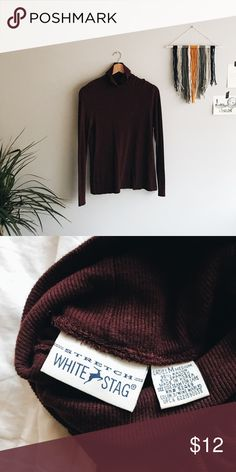 vintage maroon turtle neck + dark maroon turtleneck + lightweight, stretchy, soft material  + 95% rayon | 5% spandex + great for a vintage / indie style    vintage // thrifted leave any questions in the comments   🌿 Closet policies 🌿 XX No trades XX No PayPal Bundles =5% Discounts Vintage Sweaters Cowl & Turtlenecks