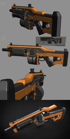 komodo shotgun wip 1 by Aberiu on DeviantArt