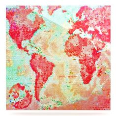 "East Urban Home World Map 'Oh the Places We'll Go' Graphic Art Print on Metal Size: 10"" H x 10"" W x 1"" D"
