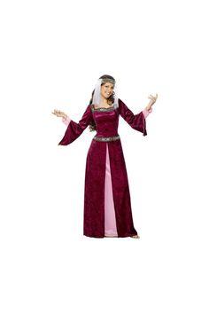 Disfraz Medieval de Lady Marion color borgoña