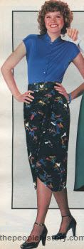 Cap Sleeve Blouse and Wrap Skirt 1979