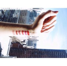 Beautiful day to swatch some new lip shades. Choosing our favorites for summer! #makeupmonday #wanderbeauty