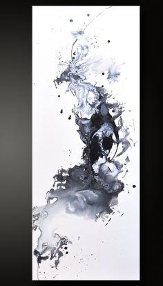 Gegen  12 x 30  abstrakte Acryl-Malerei  von CharlensAbstracts