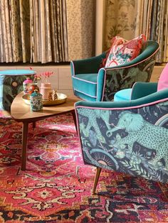 Introducing the Whimsically Wonderful Wilderie Collection by Emma J Shipley - Melanie Jade Design Hotel Interiors, Dream Home Design, Furniture Upholstery, Chair Fabric, Interior Inspiration, Design Inspiration, Eclectic Decor, New Room, Soft Furnishings