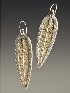 One of my favorites of Celie Fago's: Web Leaf earrings