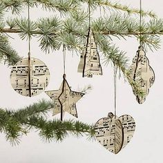 Are you interested in our Christmas tree decorations? With our Vintage Christmas decorations you need look no further. Christmas Music, Christmas Paper, Vintage Christmas, Christmas Holidays, Simple Christmas, Diy Christmas Ornaments, Christmas Tree Ornaments, Paper Ornaments, Christmas Projects