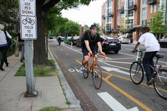 Bike lanes, or painted stripes marking bicycle travel space on roadways, have been around longer, but some of the new ones are much more sophisticated than what we had ten or twenty years ago.