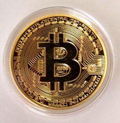 2PACK BTC 1 OZ 24K RARE GOLD PLATED BTC BITCOIN COMMEMORATIVE COIN COLLECTIBLE