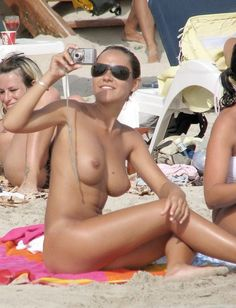 Sexy beach nudists
