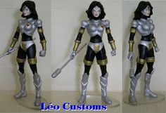 this is a marvel legends custom Magdalene figure she was made by leo's customs he used a dc direct wonder woman donna troy figure happy pinning