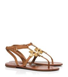 a457f1a79672 Tory Burch Chandler Flat Sandal Leather Sandals Flat