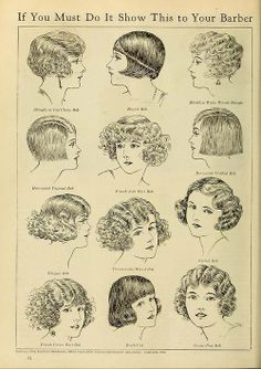Did you know that many #hairdressers refused to cut long #hair short in the 1920's so ladies had to go to see their husband's #barbers?!