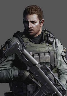 Chris Redfield (via: http://gamewise.co/characters/148/Chris-Redfield)