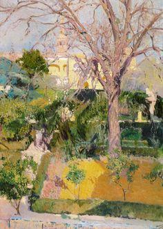 Jardines del Alcázar de Sevilla. 1908. 100 x 73 cm. Colección particular. Obra de Joaquín Sorolla