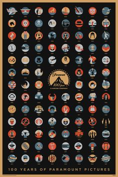 """100 Years of Paramount Pictures"" by DKNG Studios"