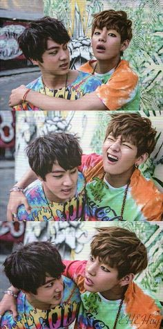 Jin 진 and V 뷔 of Bangtan Boys 방탄소년단