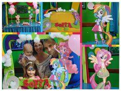 Decoración con las Niñas Pony #happybirthday #mylittlepony #decoracion