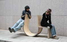 That's what one designer hopes to accomplish with his swinging see-saw seat.