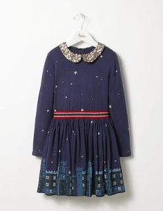 c0ed767dadc6 Cool Awesome New Mini Boden Girls Sz Party Jersey Dress Navy Castle Sold  Out!
