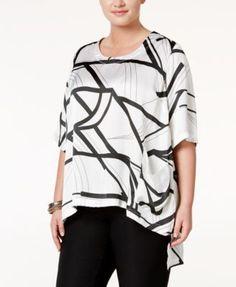 5b599c766 Melissa McCarthy Seven7 Trendy Plus Size High-Low Top & Reviews - Tops - Plus  Sizes - Macy's