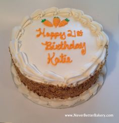 Katie's Birthday Carrot Cake. 4-23-14.