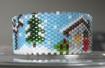 Country Christmas Tea Light Cover by Diane Masters AKA Phoenix Wolf Creations