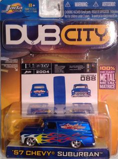 Jada, Dub City, 57 Chevy Suburban, 1:64 diecast Jada Toys, Matchbox Cars, Small Cars, Hot Wheels, Diecast, Chevy, Modeling, Trucks, News