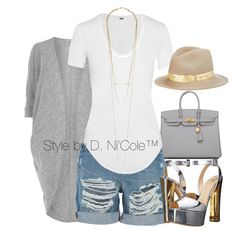 Untitled #3284 by stylebydnicole on Polyvore featuring polyvore, fashion, style, Helmut Lang, Billie & Blossom, J Brand, Giuseppe Zanotti, Hermès, Jennifer Zeuner, Eugenia Kim and clothing