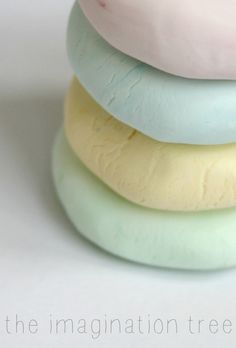 "How to make soft play dough for sensitive skin with cornflour  aqueous cream - from The Imagination Tree ("",)"