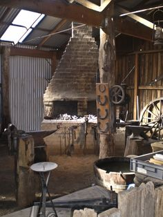 Blacksmiths  furnace & tools