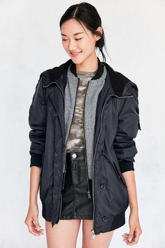 Silence + Noise Delta Military Bomber Jacket - Urban Outfitters