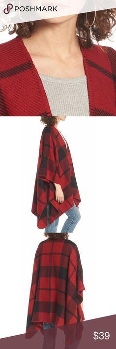 """Blanket Wrap perfect for wear all year, 100% acrylic, machine wash cold and line dry, approx. 29"""" at the shortest & 41"""" at the longest  ⁉️I'm happy to answer all your questions, please ask them before you buy so I can make your purchase in my closet absolutely perfect. Jackets & Coats"""