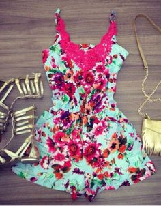 love this bright colored romper
