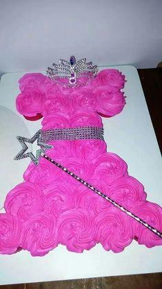 Princess dress  cupcakes