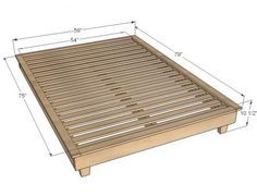 tatami platform bed frame in natural finish - this japanese style