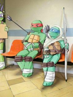 *literally dying* based off that pic of the dad and the son omgosh Tmnt 2012, Ninja Turtles Art, Teenage Mutant Ninja Turtles, Big Heroes, Tmnt Leo, Leonardo Tmnt, Tmnt Comics, Fan Art, Anime