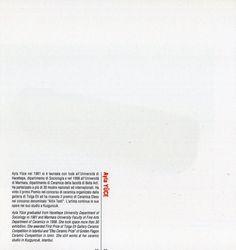 AYLA YUCE, Contemporary Ceramic Art Exhibition, cerİSTanbul,Bologna