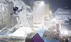 Red Bull Playstreets 2015 finally comes back to Bad Gastein! Photo: Erwin Polanc (by Red Bull). Red Bull, Bad Gastein, Freestyle Skiing, Event Page, Design Strategy, Chill, Times Square, Urban, Travel