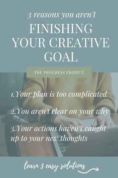 If you find yourself in this position of not following through when you lose motivation, I think it can be a symptom of one of three things. Let's talk about those three reasons and how to solve for each one!     #goalsetting #creativegoals #creativegoalsetting