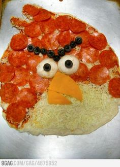 An Angry Pizza.  I have to make this for Andrew!