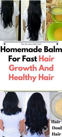 DIY Homemade Balm For Fast Hair Growth And Healthy Hair.!!