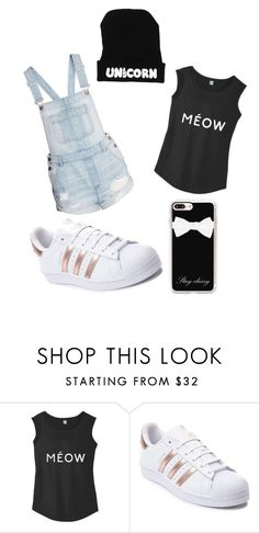 """black collor outfit"" by k-hof ❤ liked on Polyvore featuring adidas and Casetify"