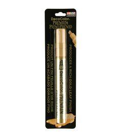 DecoColor Premium Oil Based Paint Marker Carded-Chisel Tip Gold