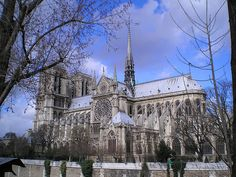 notre dame from across the seine by ikariotiko, via Flickr