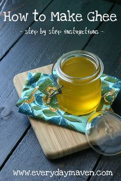 Ghee is a great cooking fat, even if you aren't dairy-free! Here's how to save money and make your own. Great for Whole 30, frying foods, high temperature cooking, and more!